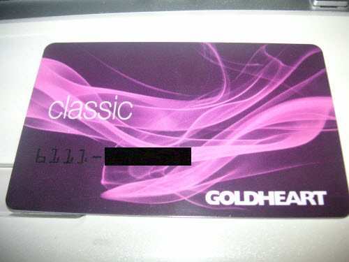 GoldHeart Member Card