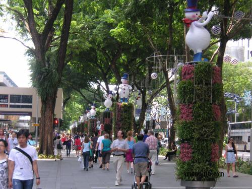 Singapore christmas celebration 2009